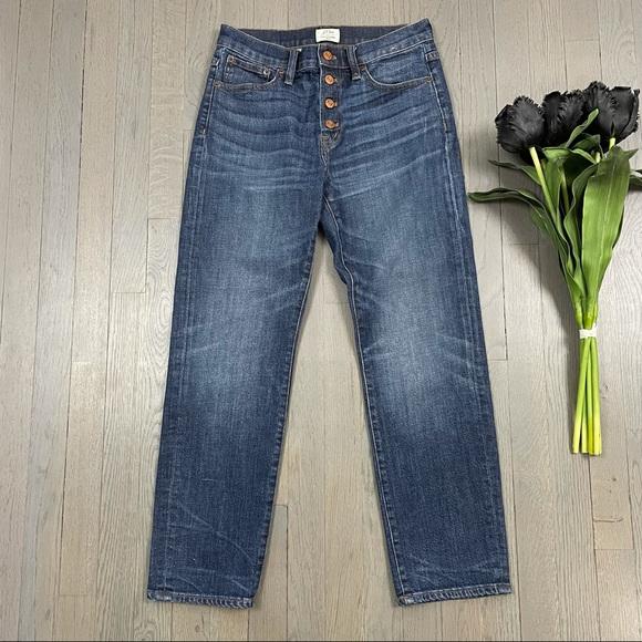 J.Crew Straightaway Jean Button-Fly Denim Jeans